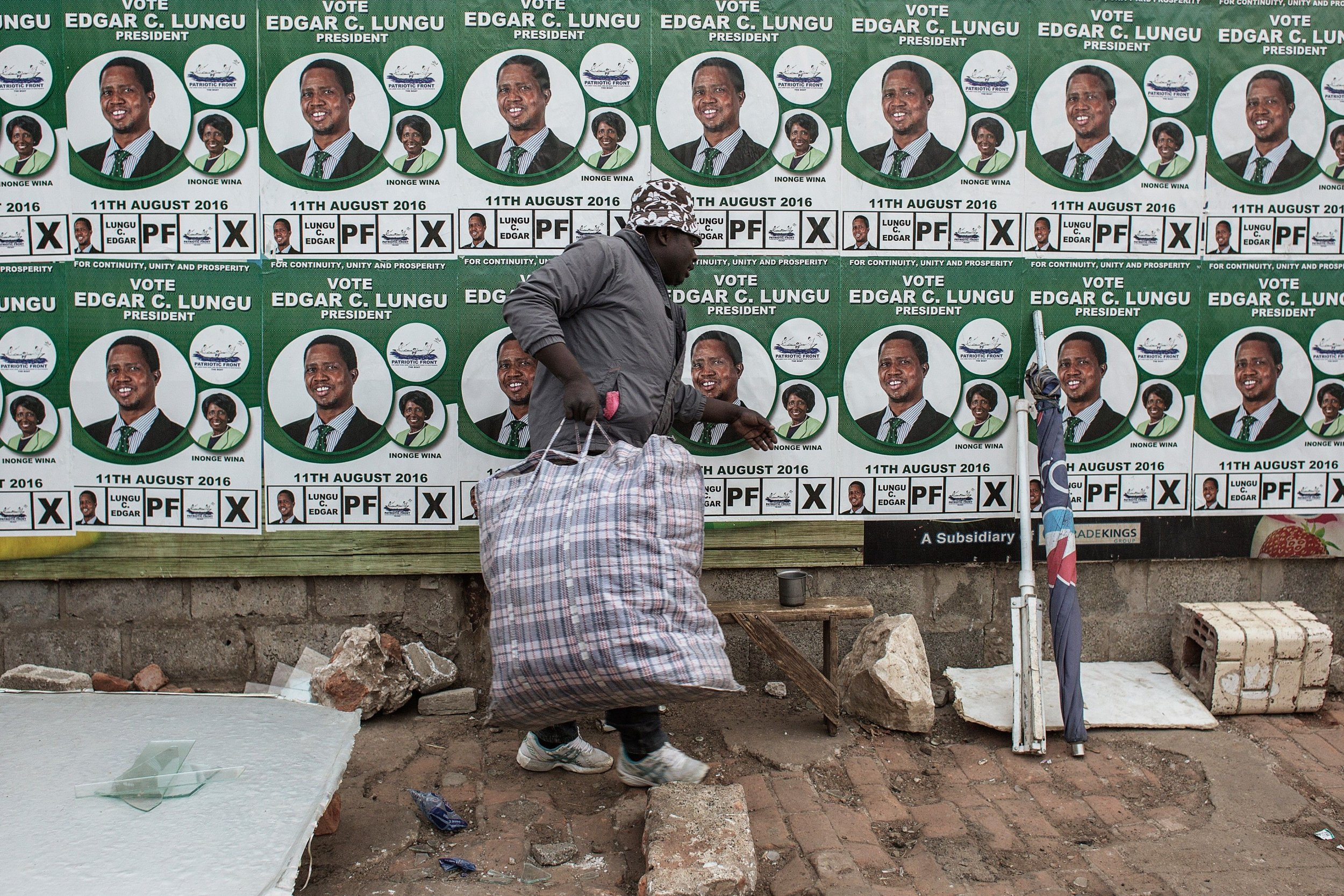 Edgar Lungu billboard