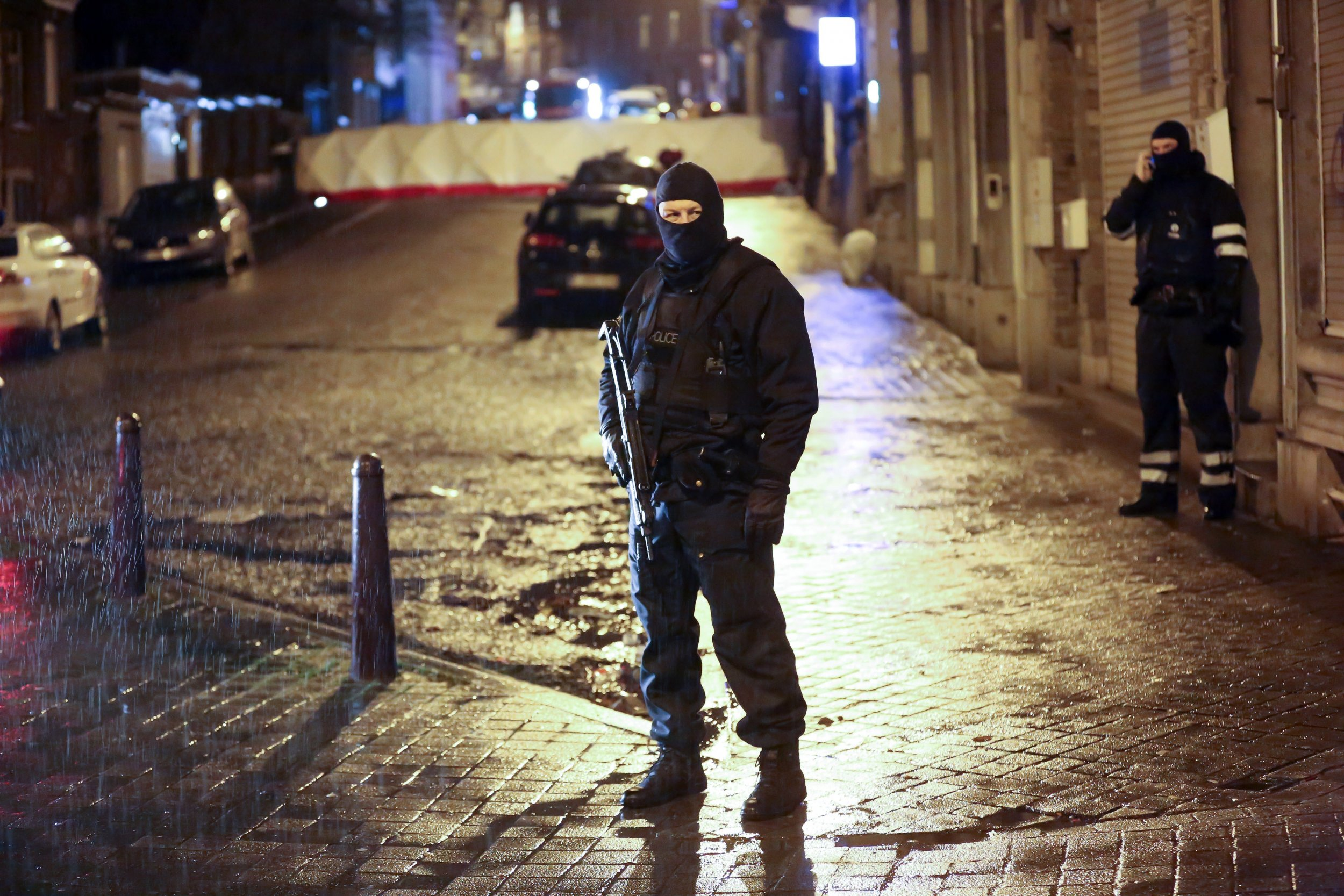 Belgian police in Verviers