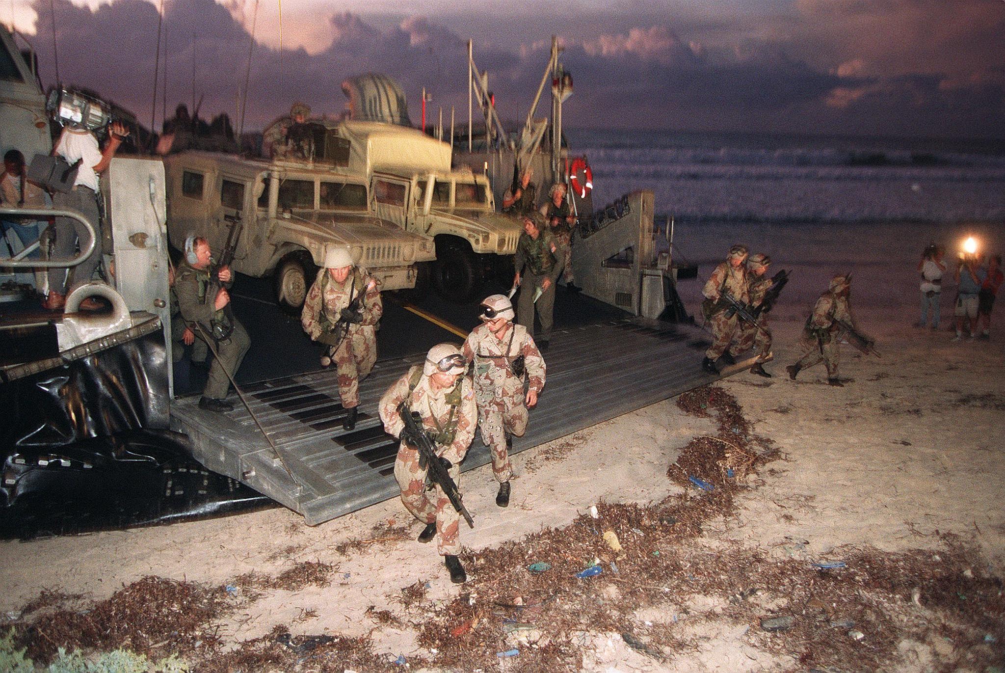 U.S. Marines in Mogadishu