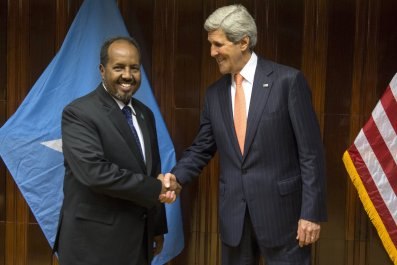 Hassan Sheikh Mohamud and John Kerry