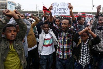 Ethiopia protesters
