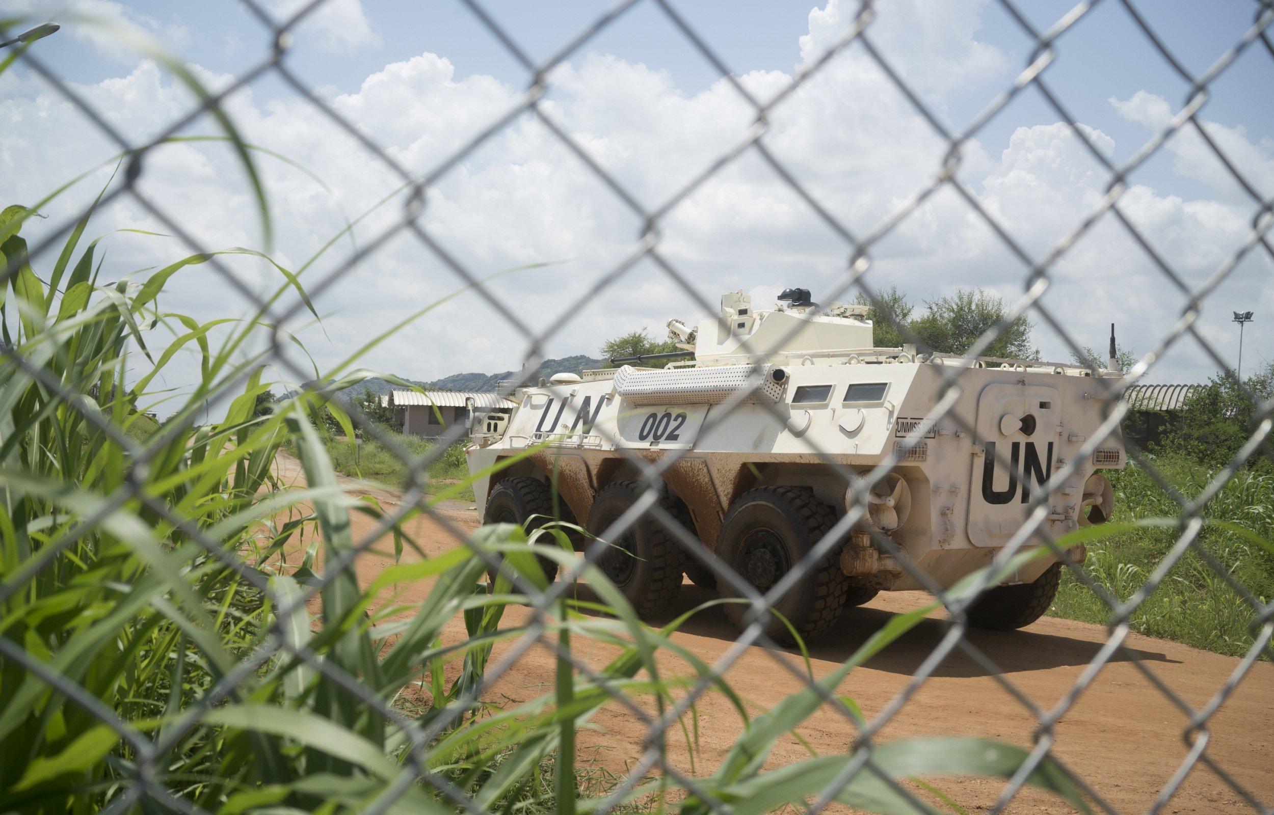 U.N. armored personnel carrier in Juba