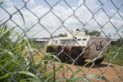 U.N. armored personnel carrier in Juba