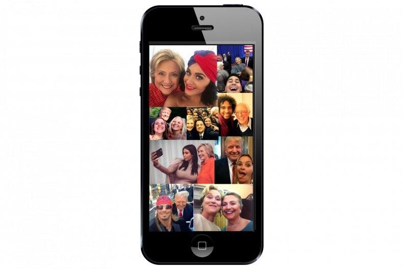 8-11-16 Presidential candidates selfies (1)