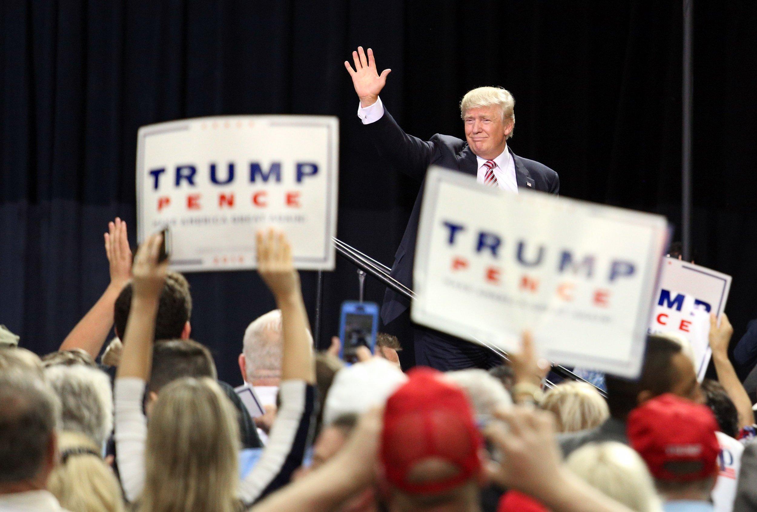 Donald Trump speaking in Florida
