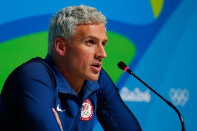 US gold medal winning swimmer Ryan Lochte