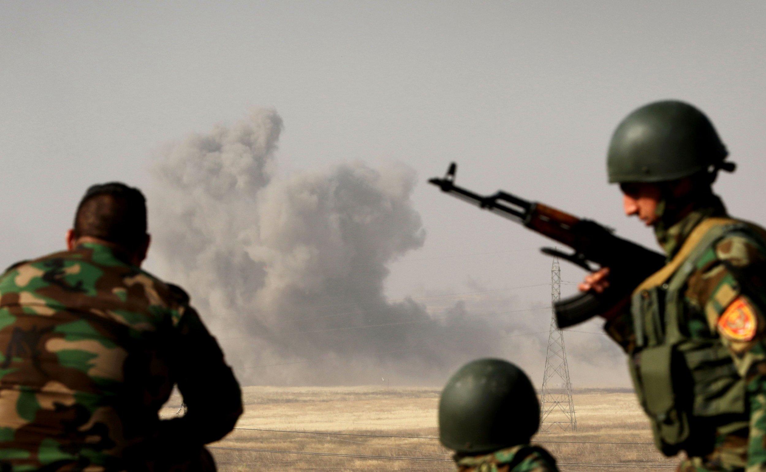 Kurdish forces near Mosul