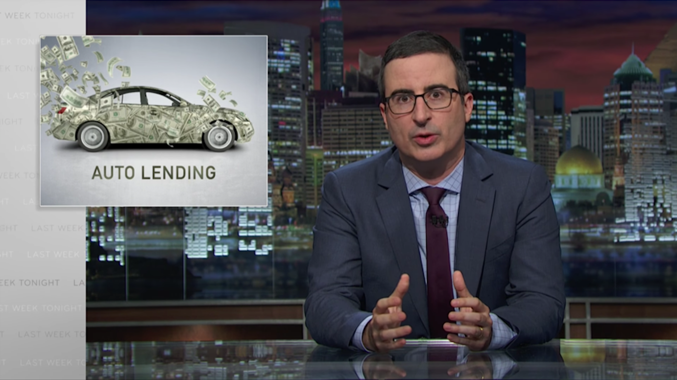 John Oliver Auto Lenders Routinely Trick Lower Income Americans Into Paying Far More For A Car Than It Is Actually Worth Youtube