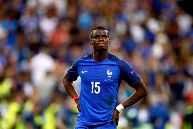 Manchester United and France midfielder Paul Pogba.