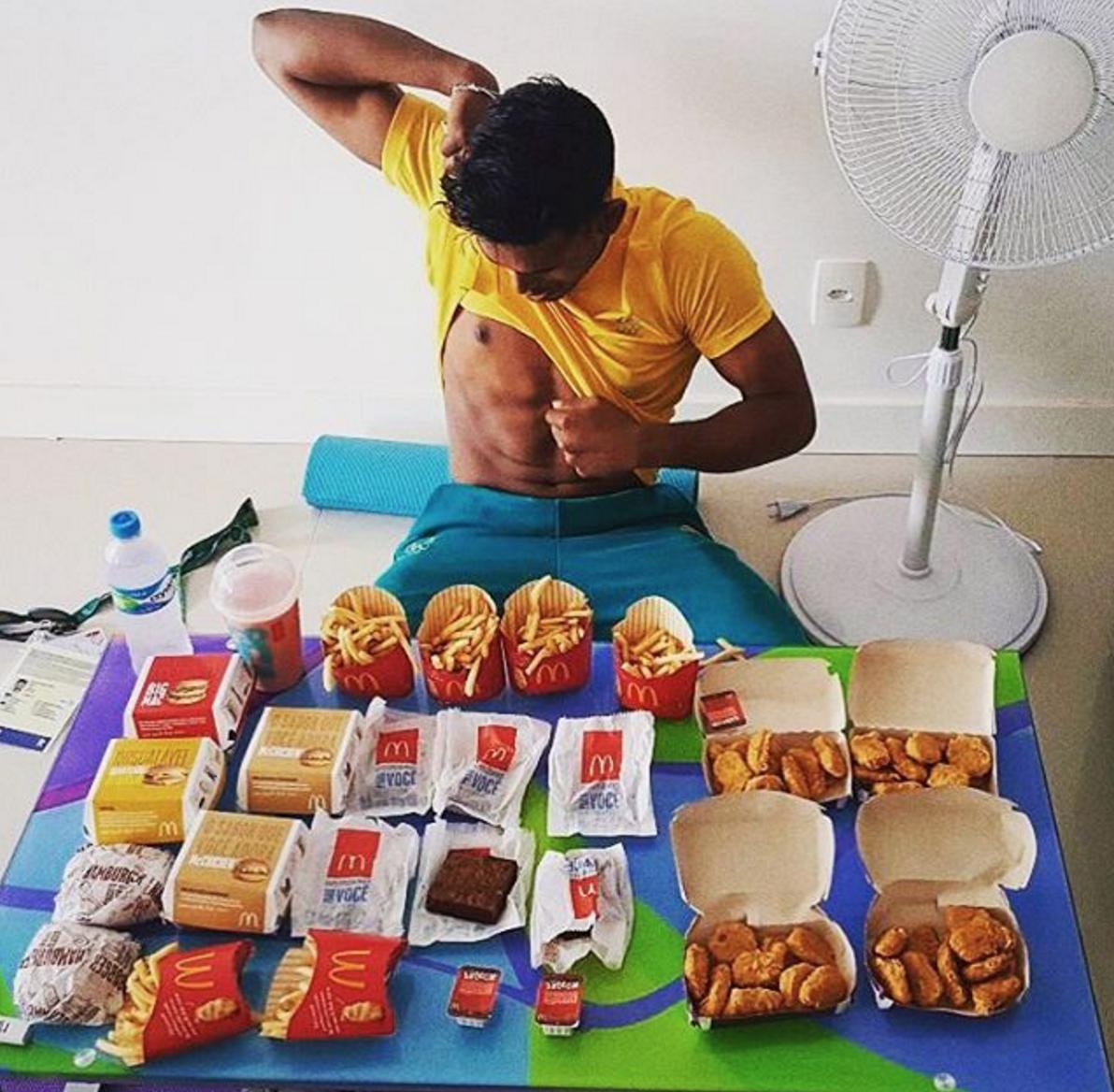 What do sportsmen eat? 36