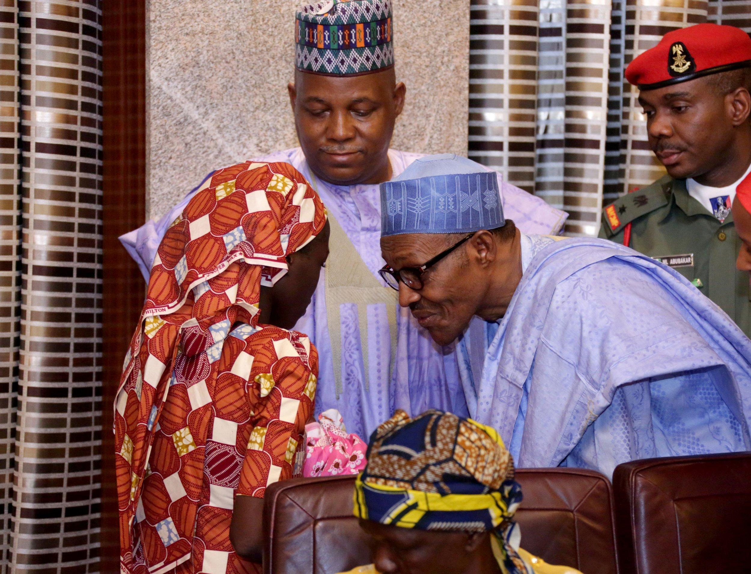 Amina Ali Nkeki and President Buhari