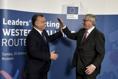 Viktor Orban meets Jean-Claude Juncker