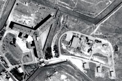Saydnaya prison, near Damascus, Syria