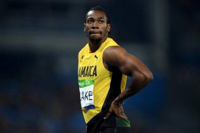 Jamaican sprinter Yohan Blake
