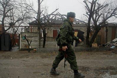 Ukraine separatist militant