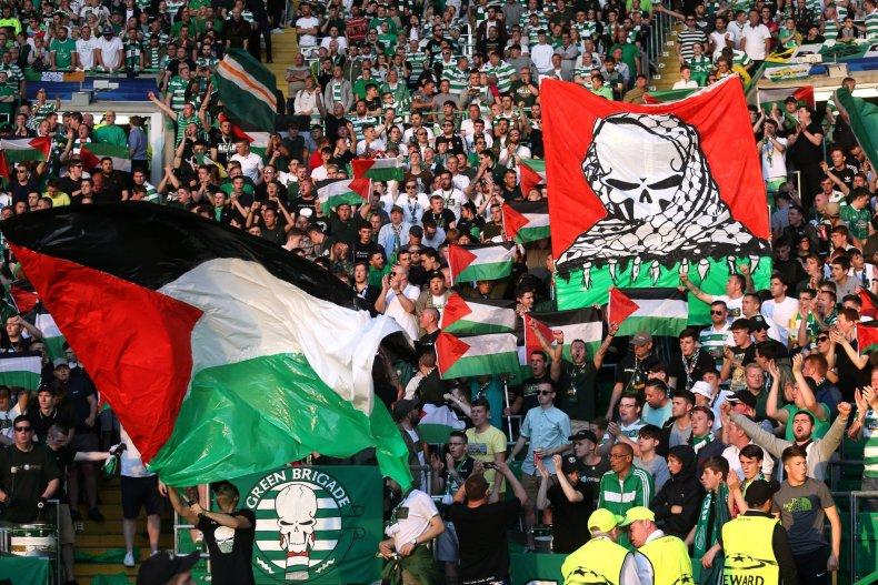 Celtic Palestinian fans Israel team