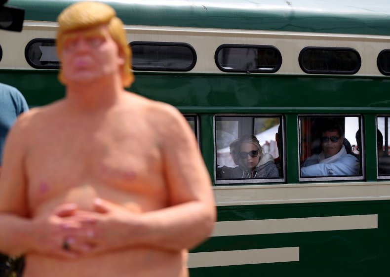Trump train passengers