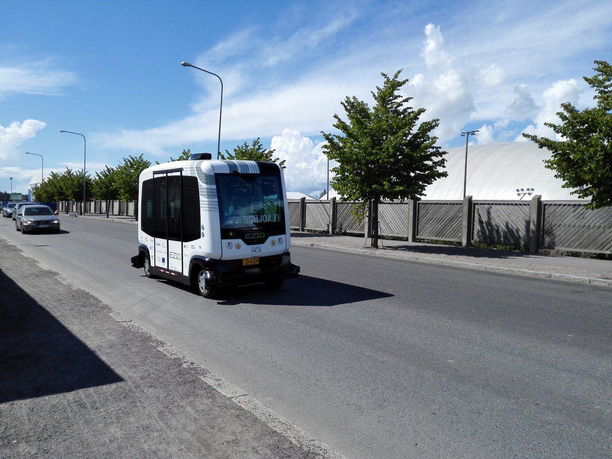 self-driving bus helsinki finland