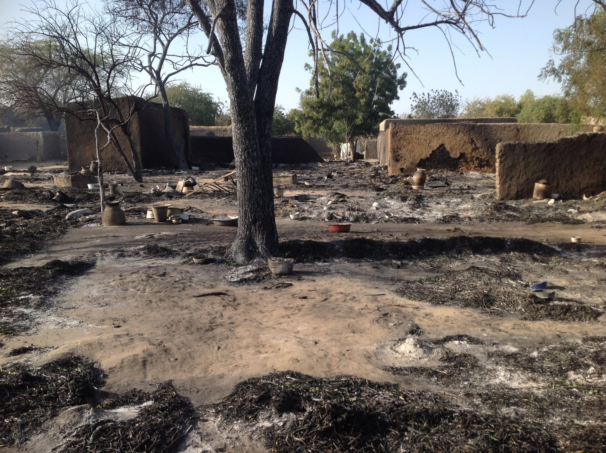 Boko Haram burnt village
