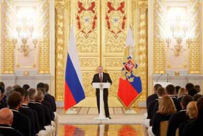 Putin with Olympians