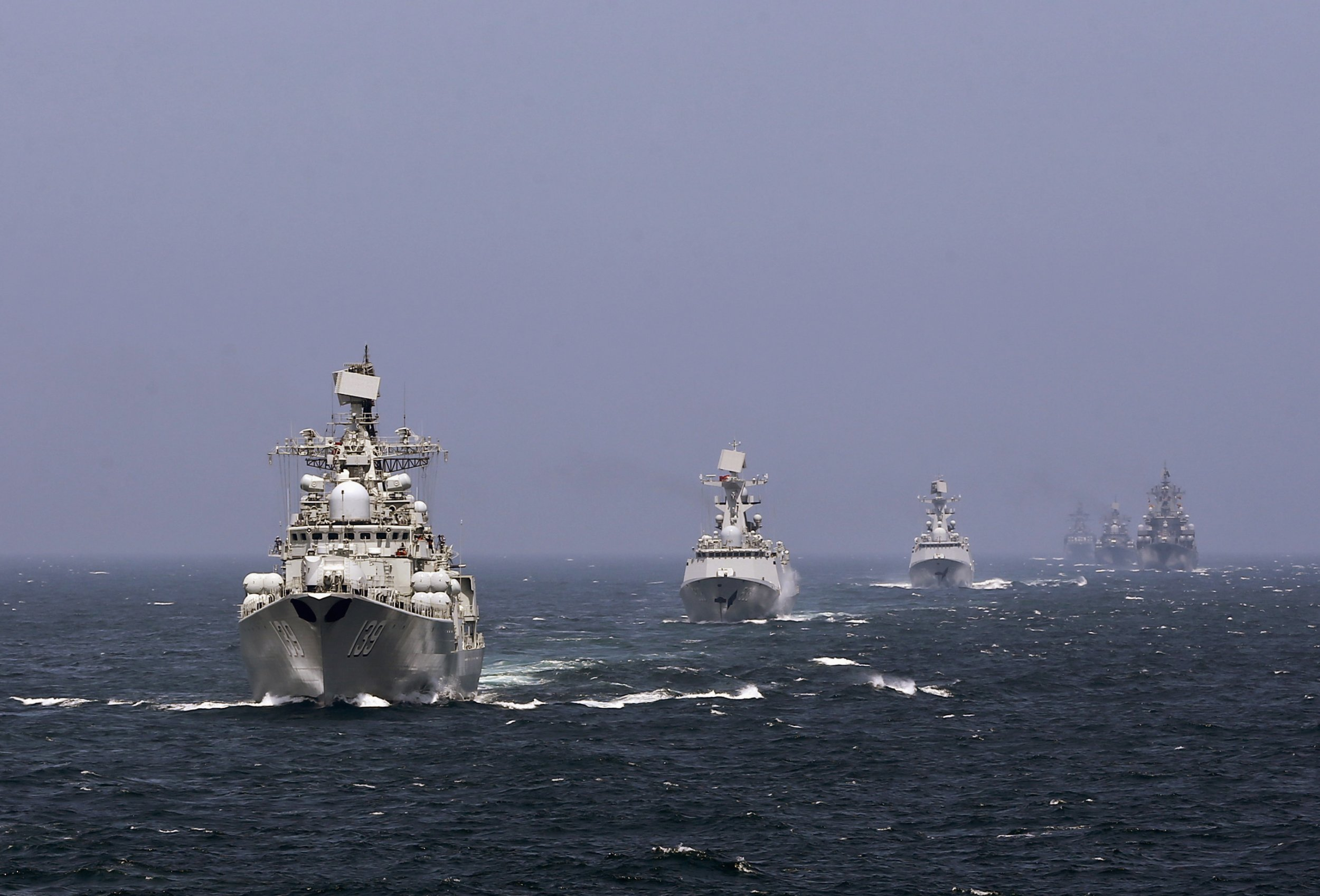 China Russia navies