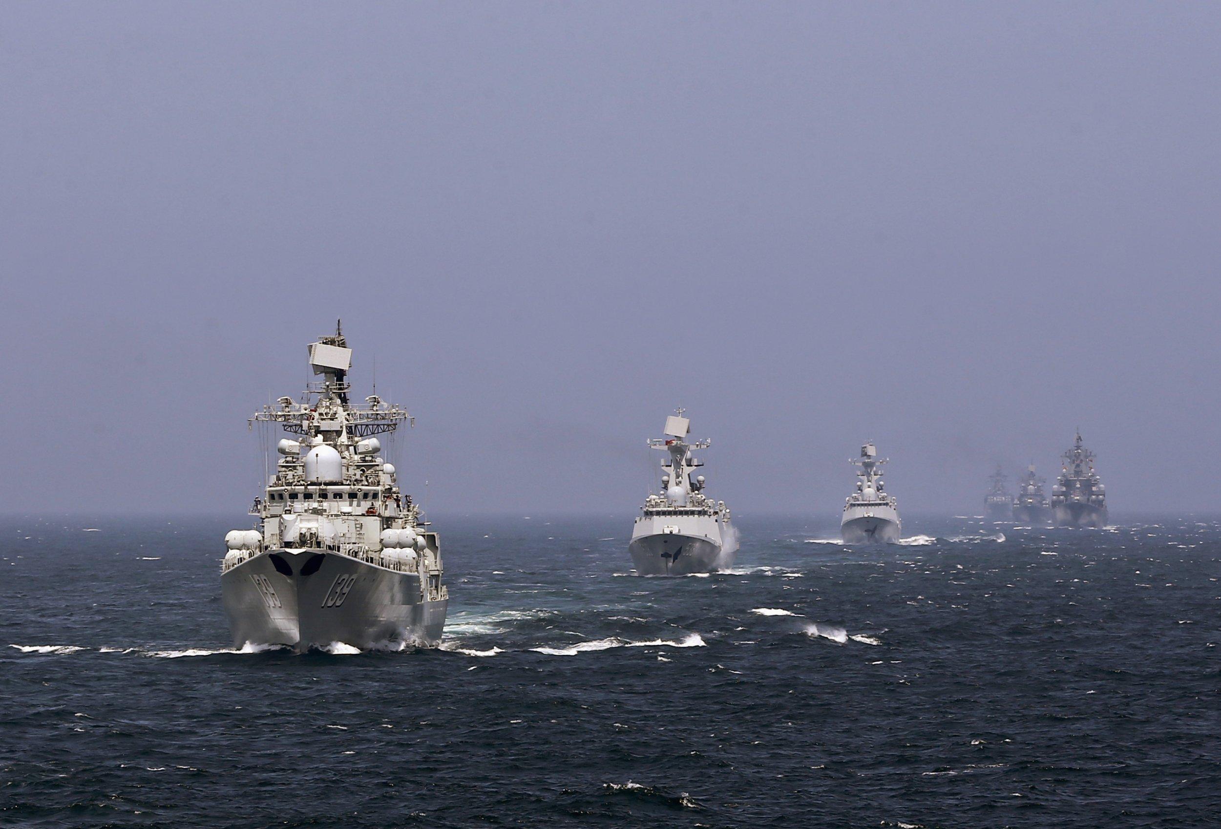 China Russia navies