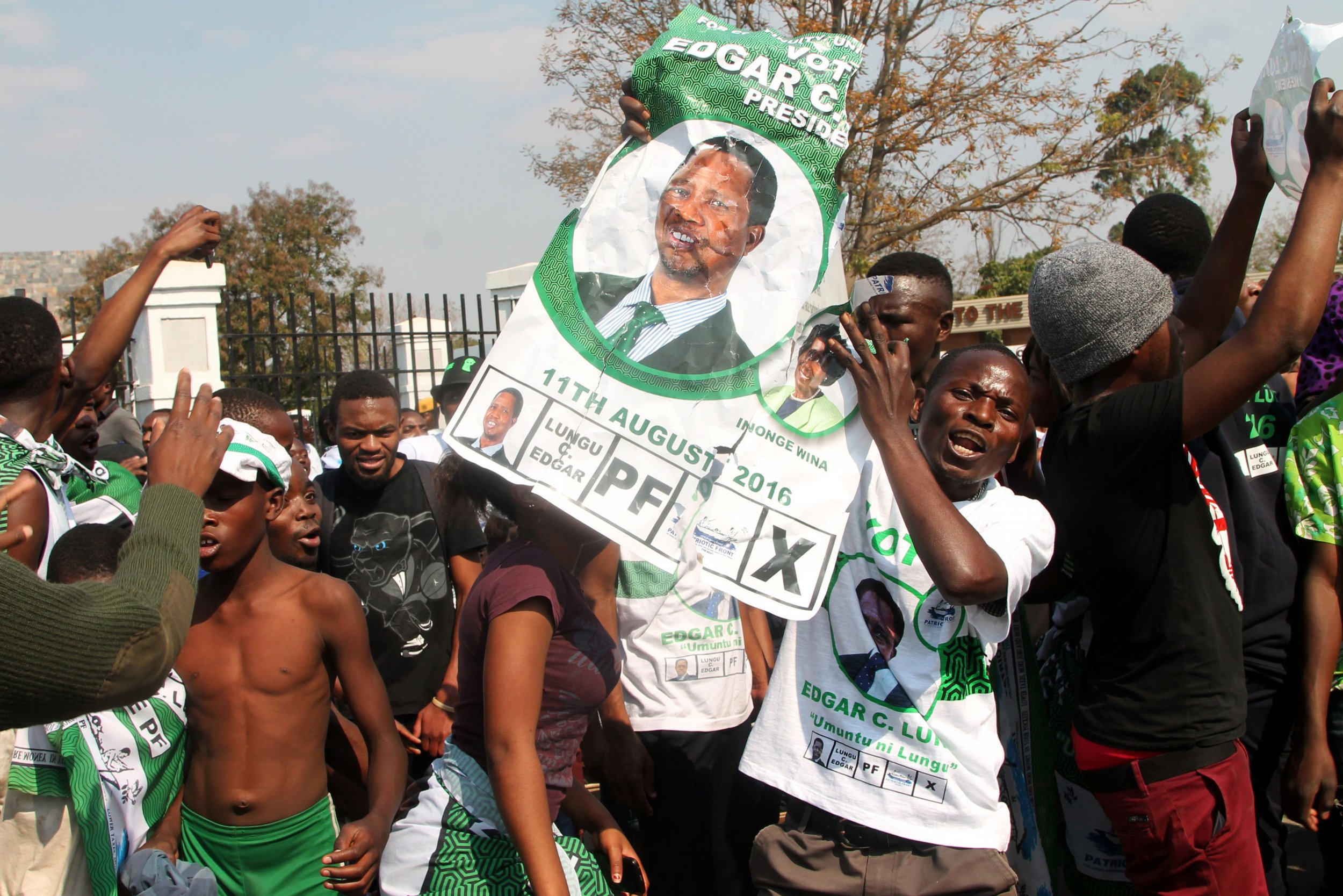 Zambia Patriotic Front supporters