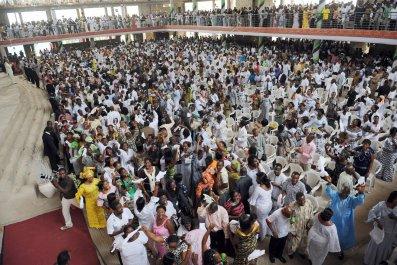 Ghana worshippers