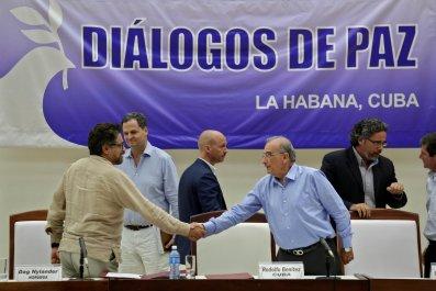 FARC - Humberto de la Calle and Ivan Marquez