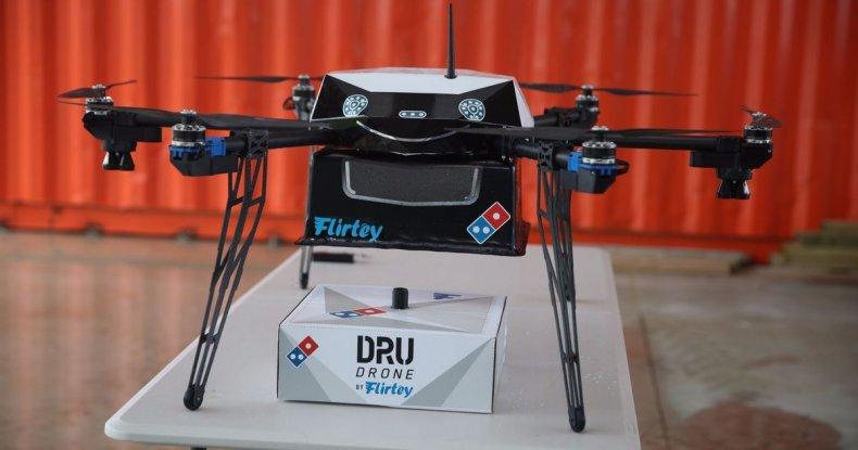 pizza delivery drone domino's