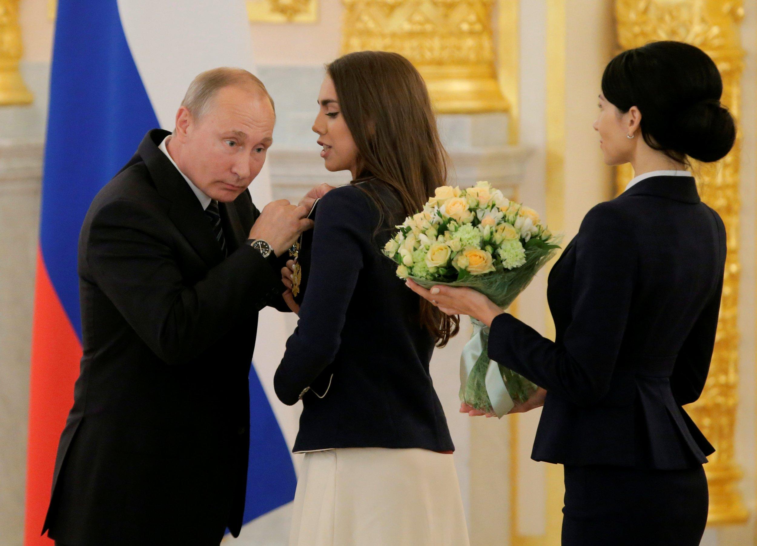 Putin and athlete