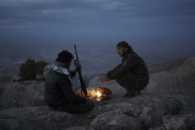 Kurdish fighters in Iraq