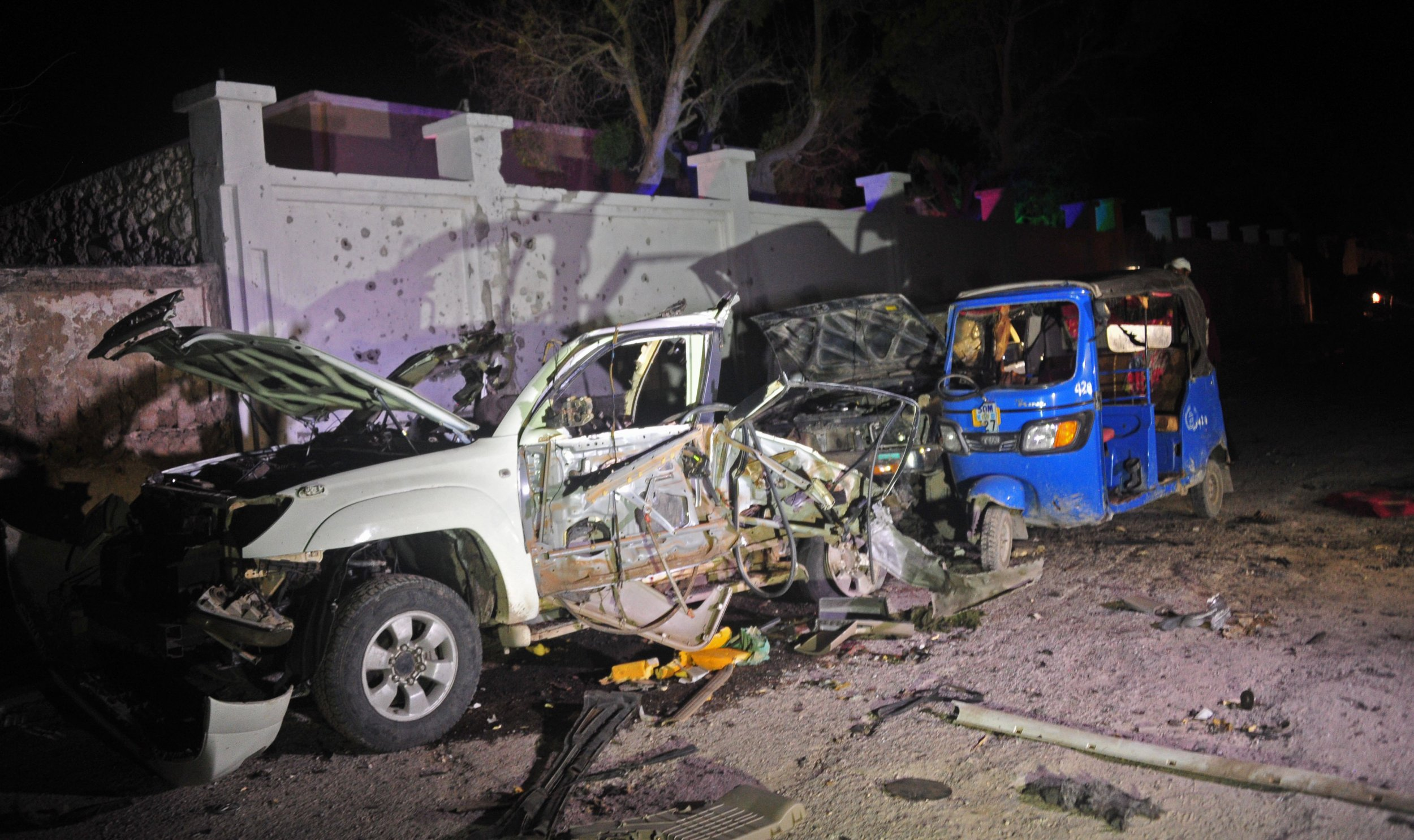 Scene of Al-Shabab attack on beach in Mogadishu