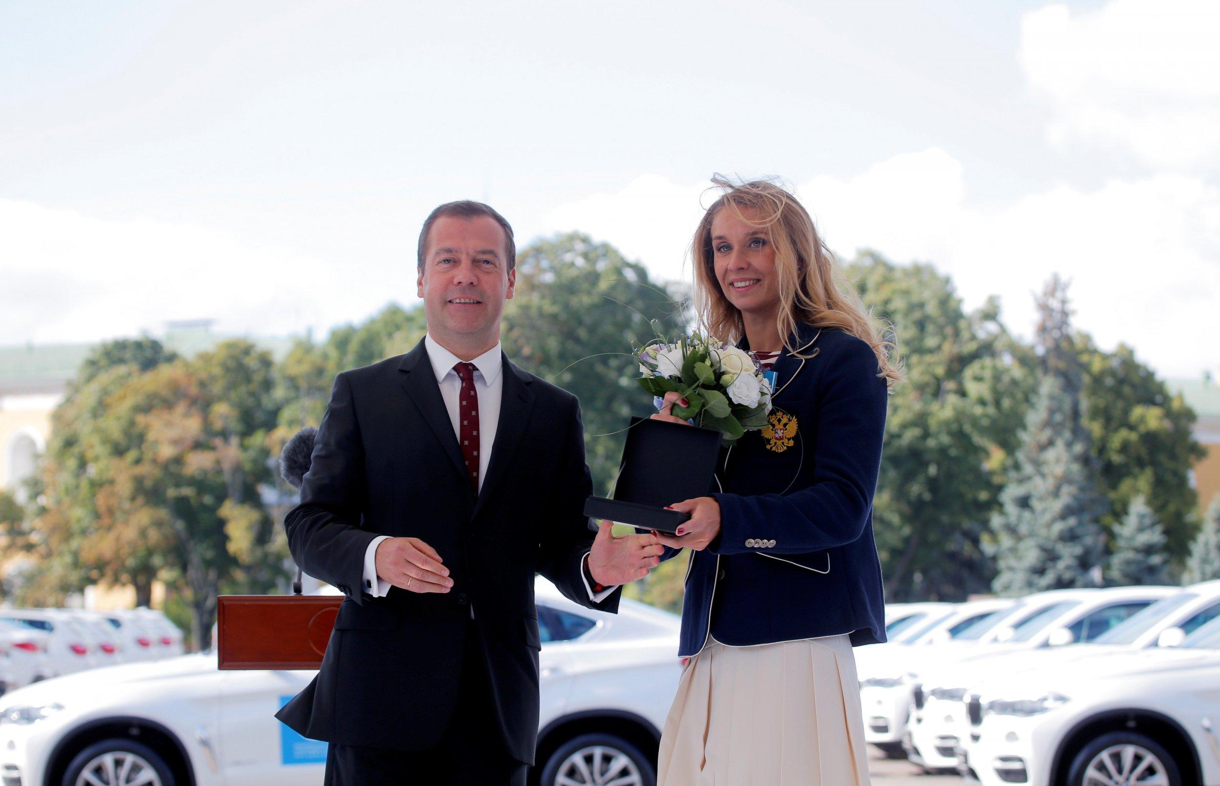 Dmitry Medvedev and Natalia Ischenk