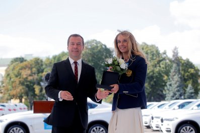 Dmitry Medvedev and Natalia Ischenk