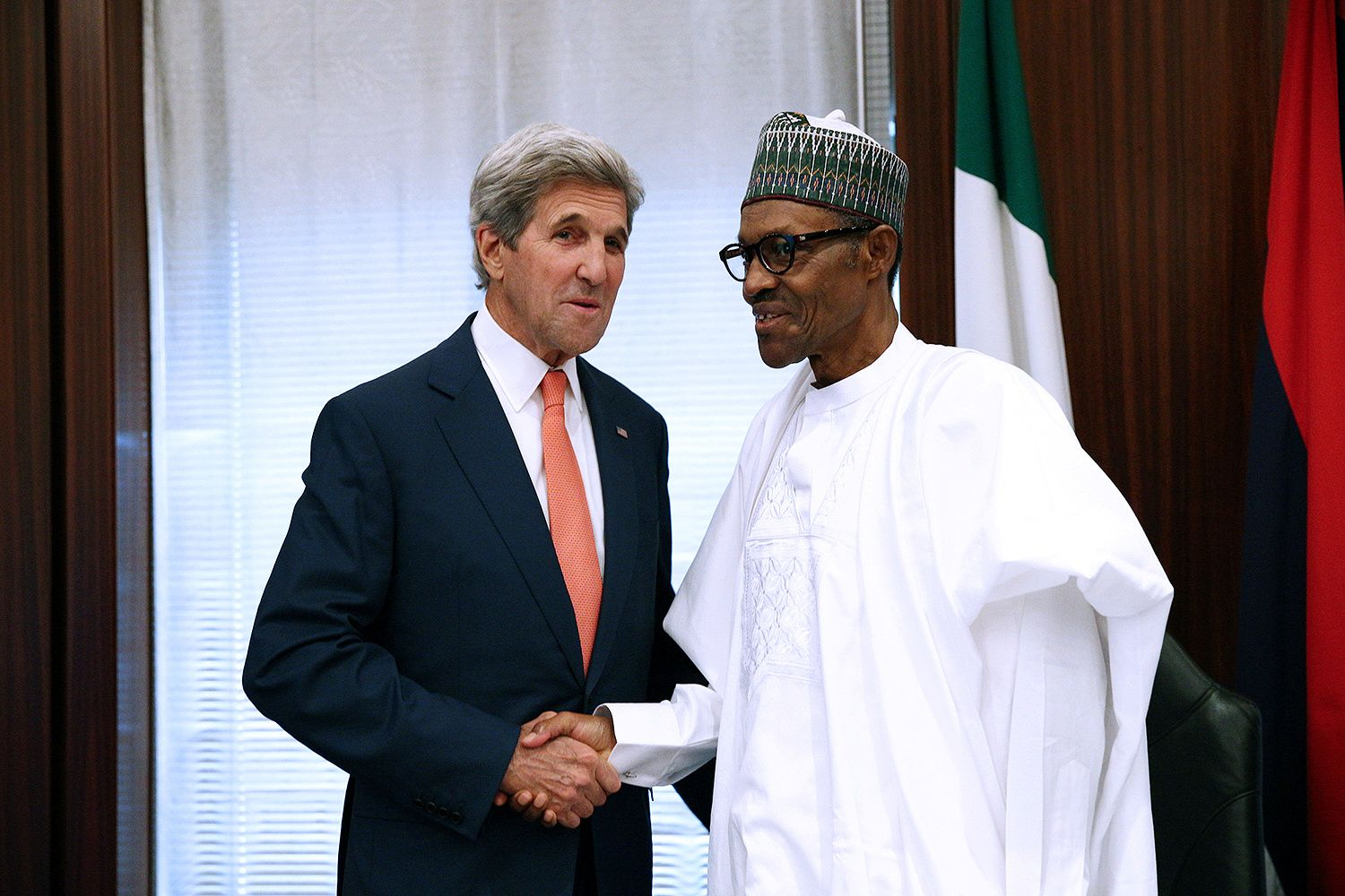 Muhammadu Buhari with John Kerry