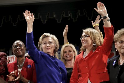 Hillary Clinton (left) and Gabby Giffords