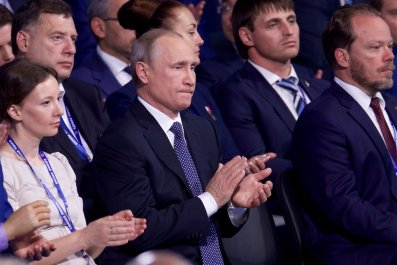 Putin at United Russia meeting