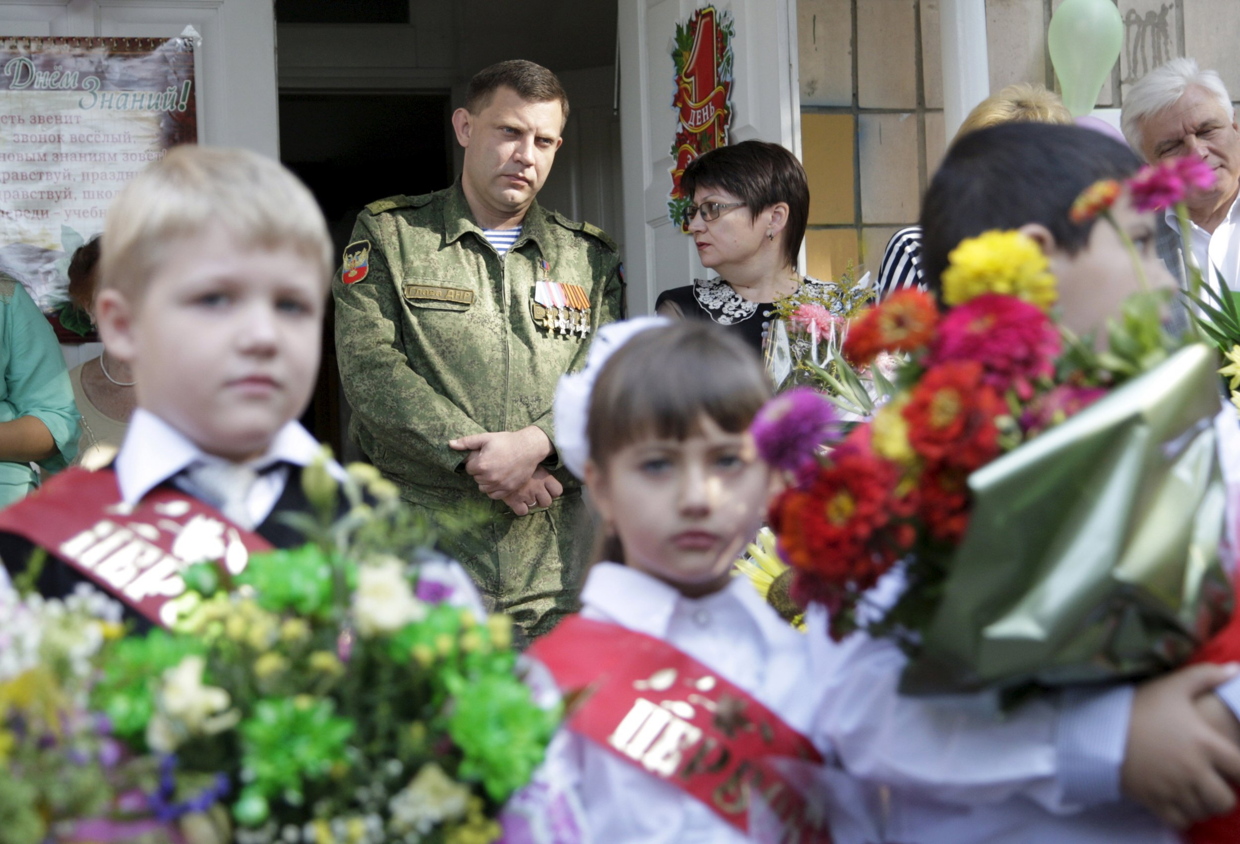 First day of school in Donetsk