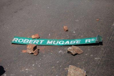 Robert Mugabe road sign