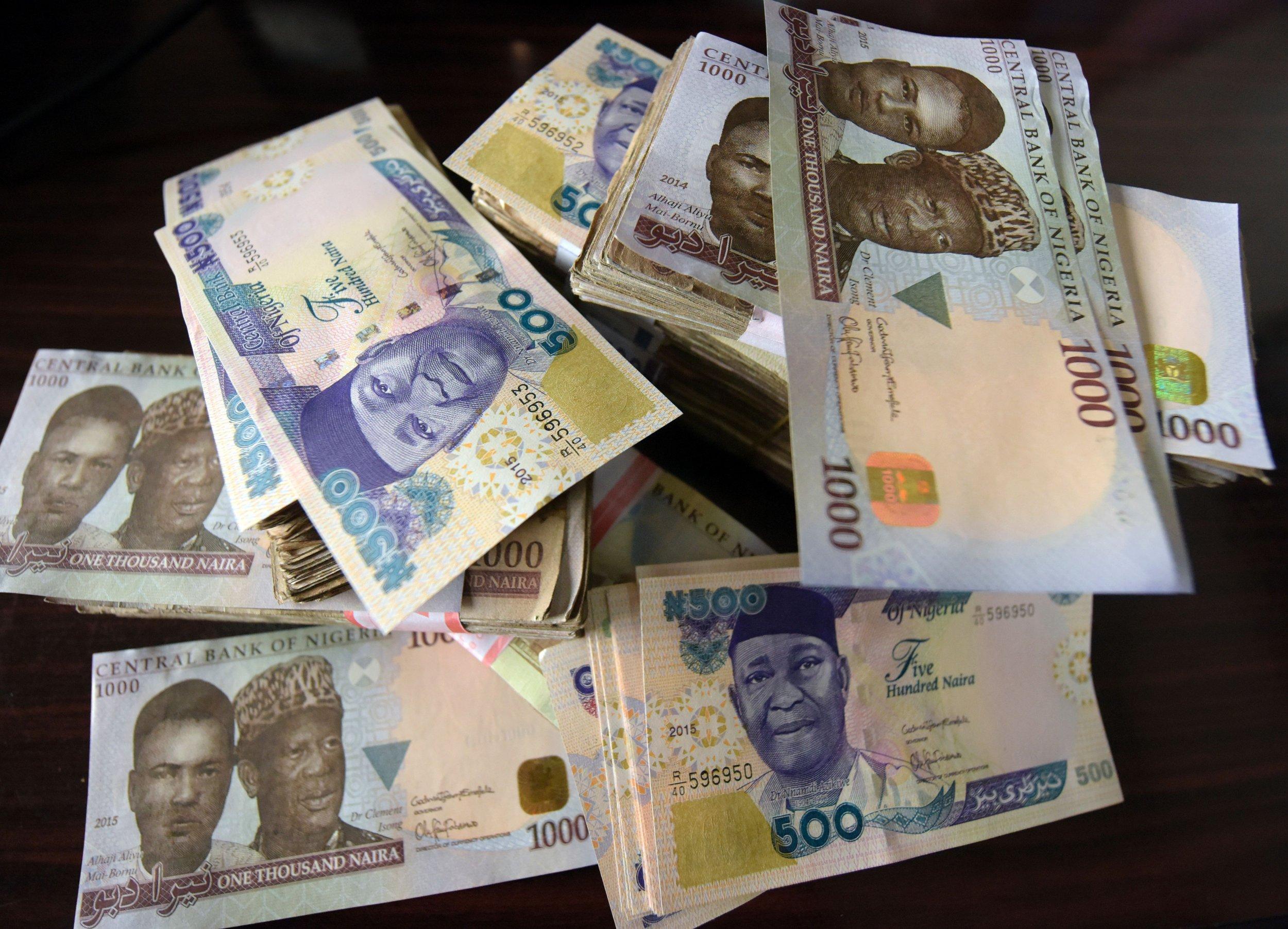Nigeria naira banknotes