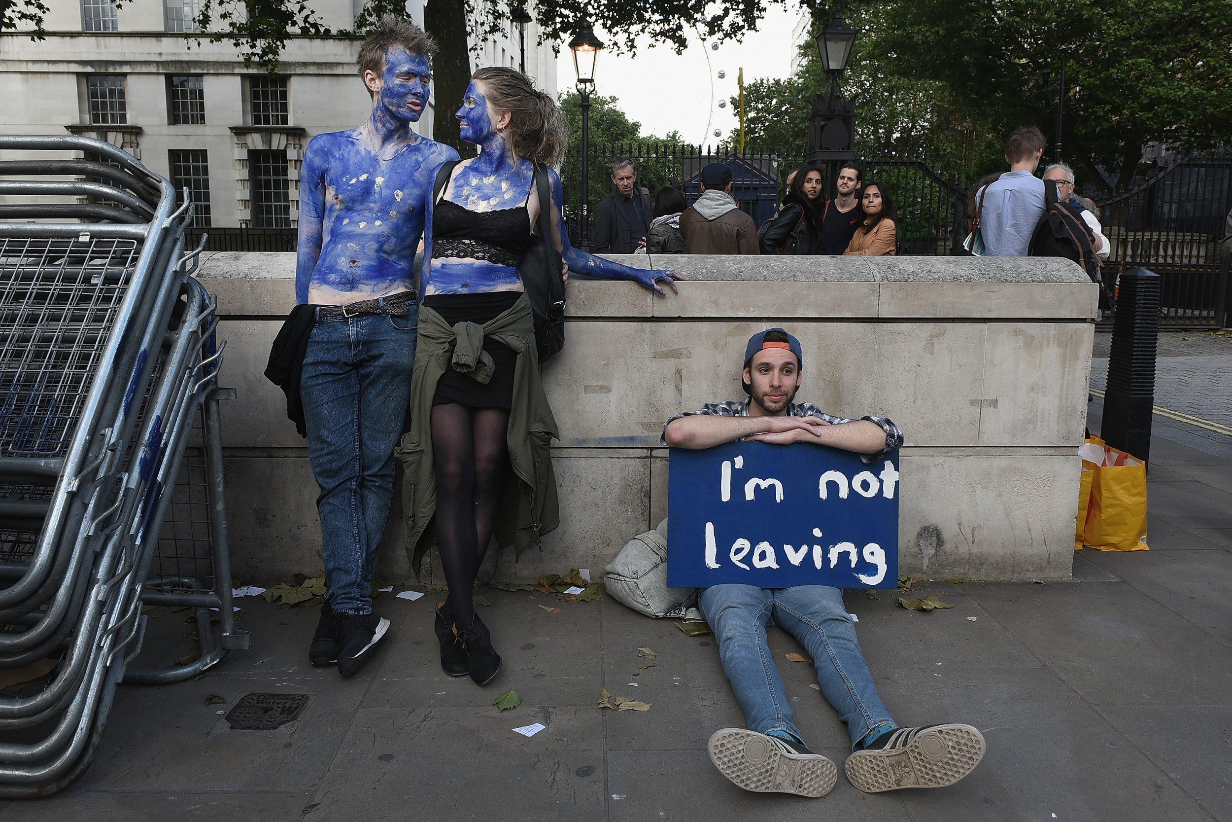 EU referendum protest