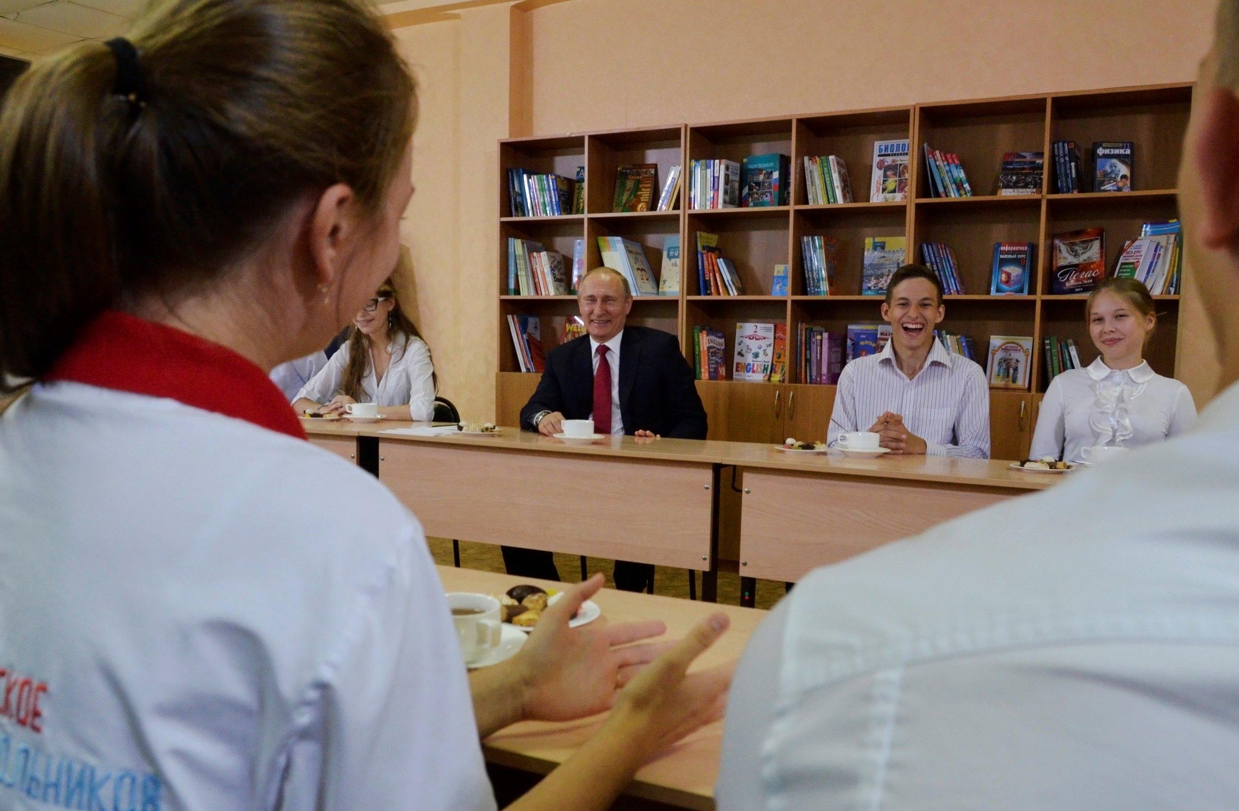 Putin in school