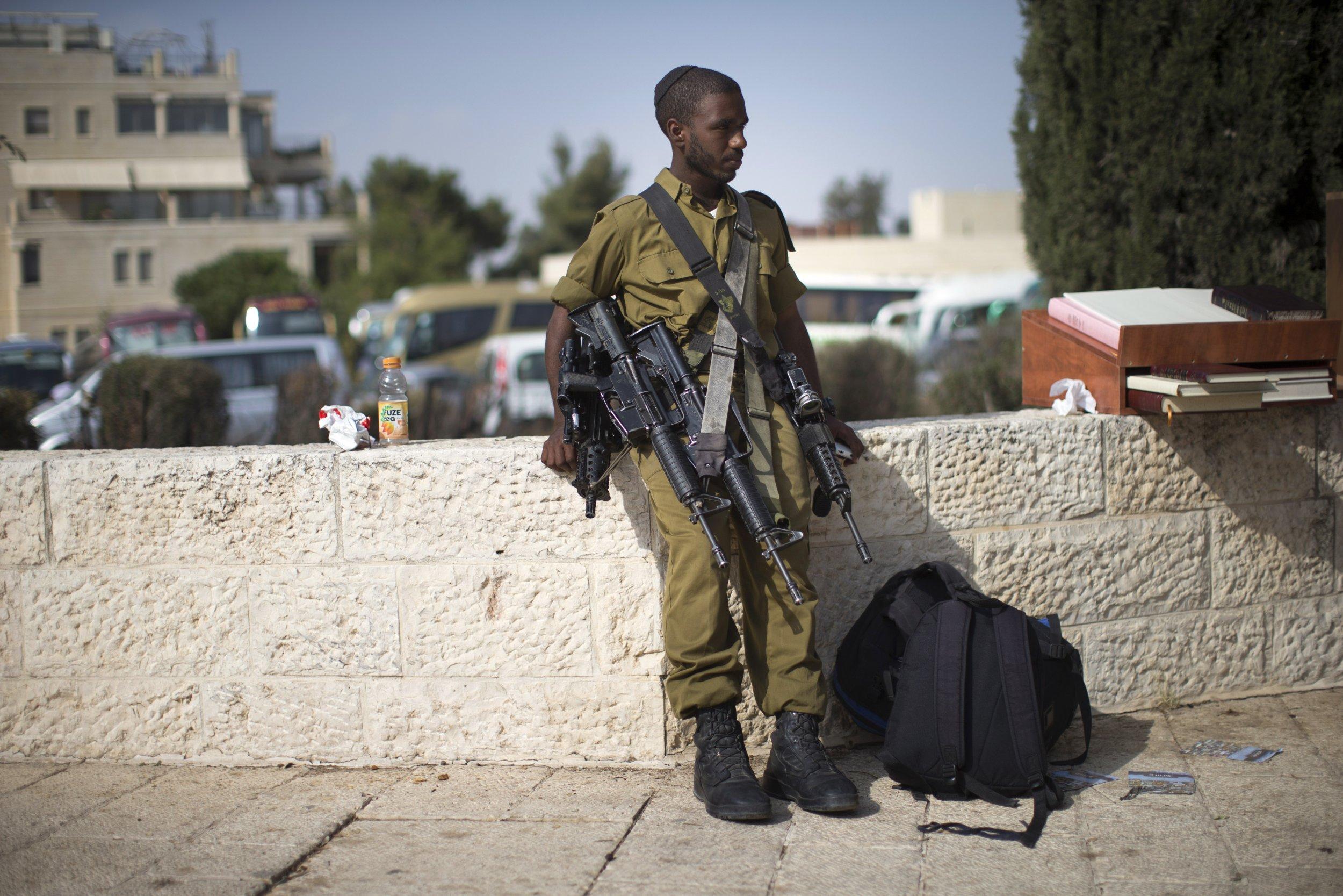 Israeli Ethiopian soldier