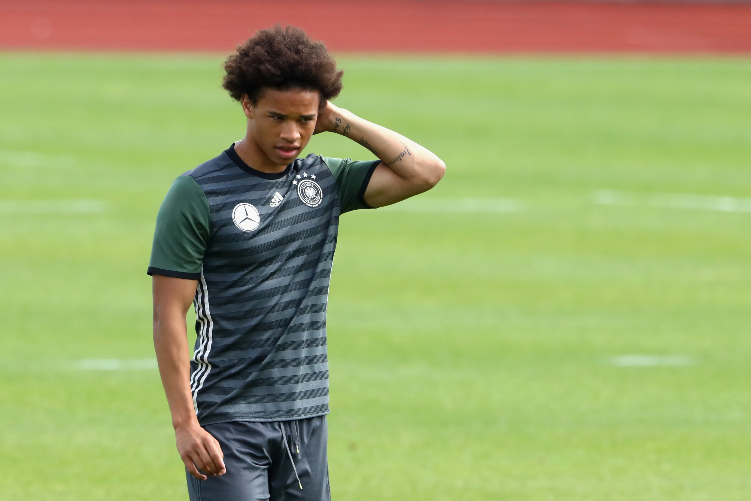 Germany and Manchester City winger Leroy Sane.