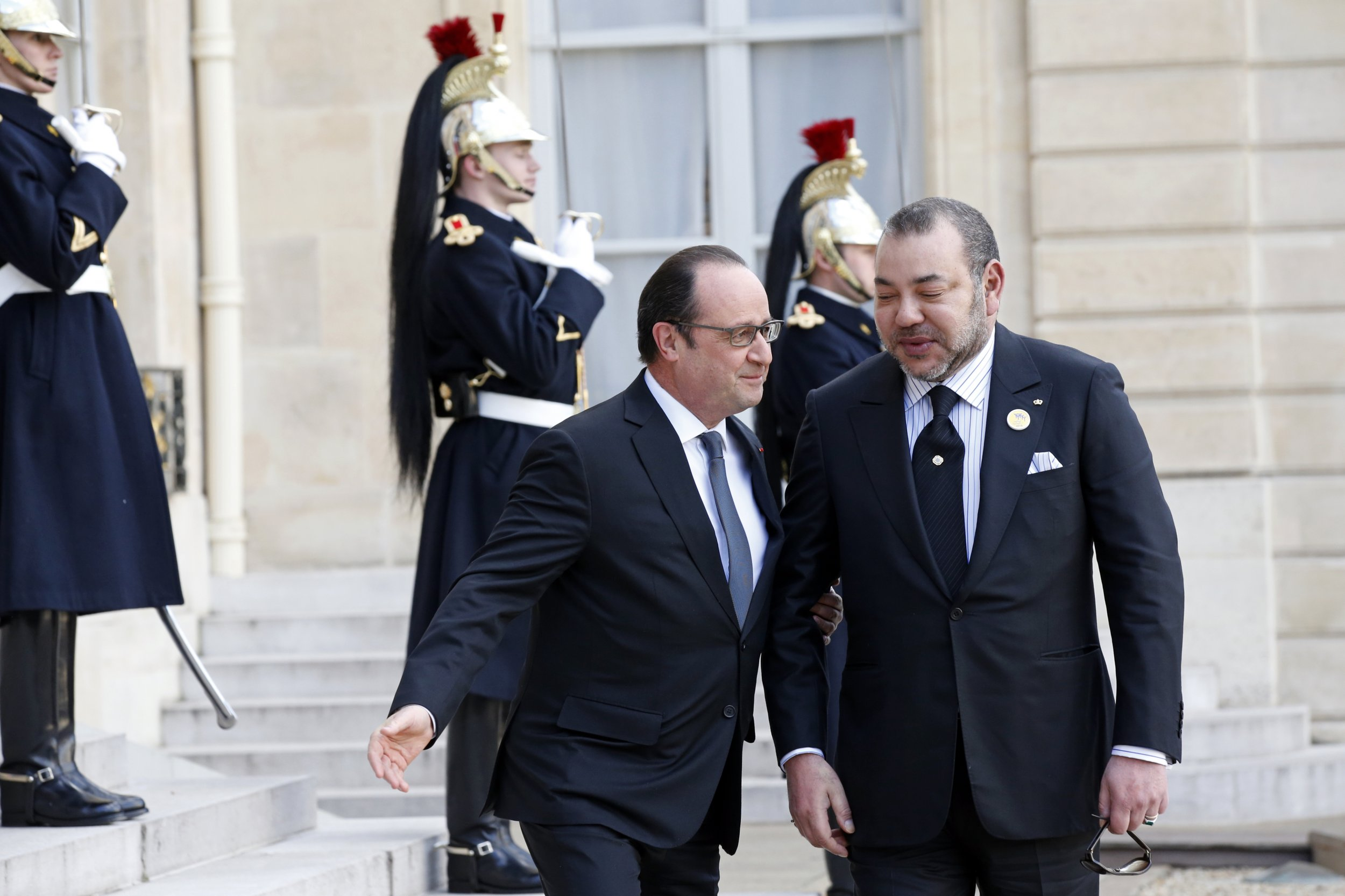 Francois Hollande and King Mohammed VI