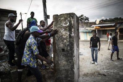 Gabon protesters