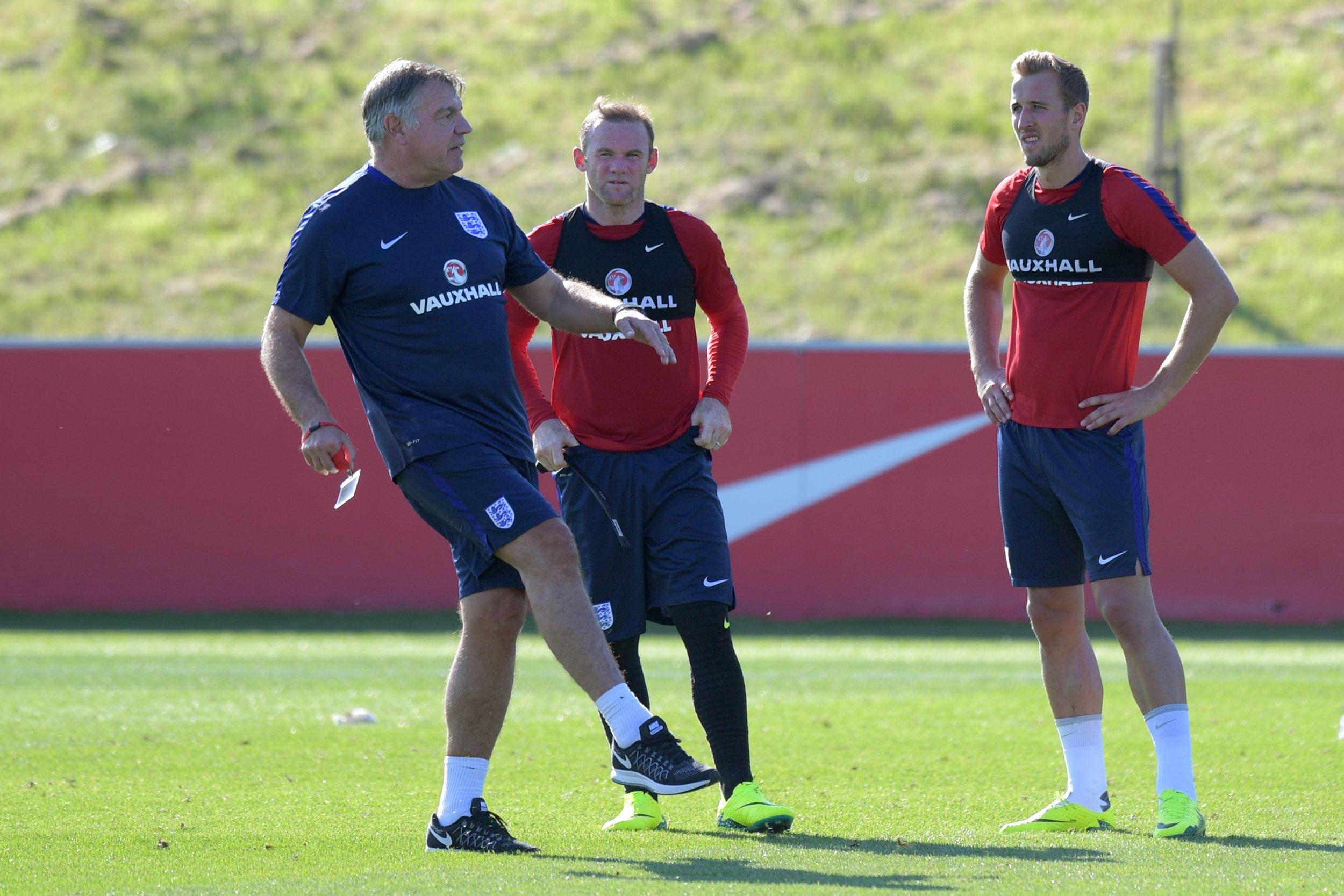 England manager Sam Allardyce, left.