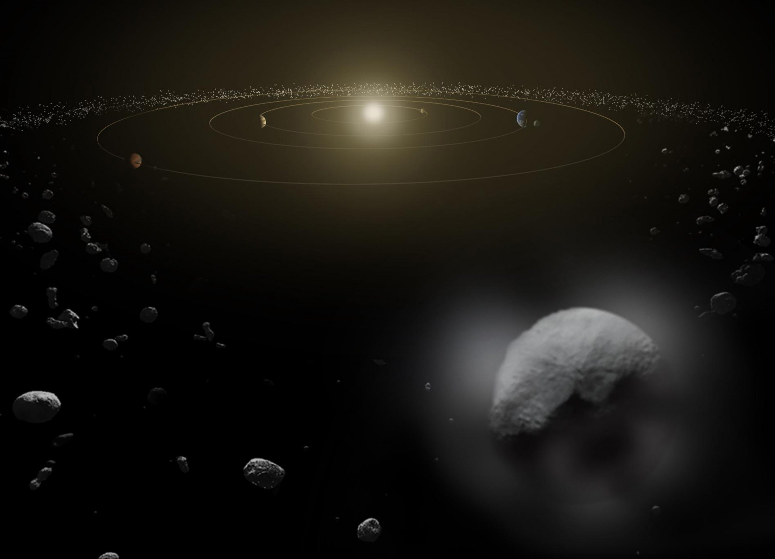 NASA Asteroid Mission Reveals Ice Volcano and Other Signs of Water