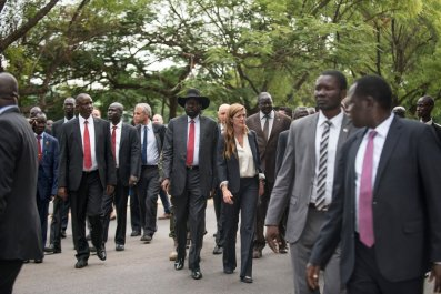 South Sudan leaders